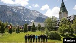 世界工業化七國首腦與歐盟領導人2015年6月7日在德國巴伐利亞克林鎮舉行峰會。