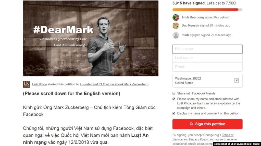 Đến ngày 10/7, hơn 6900 người ký thư chất vấn Facebook của Luật Khoa tạp chí