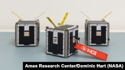 The CubeSats designed by Zac Manchester and assembled by Max Holliday for a SpaceX launch in 2021.