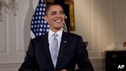 US President Barack Obama delivers the weekly address, 27 Feb 2010
