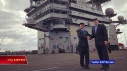Đại sứ Việt Nam thăm tàu sân bay Mỹ USS George H.W. Bush