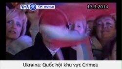 Quốc hội Crimea tuyên bố độc lập khỏi Ukraina (VOA60)