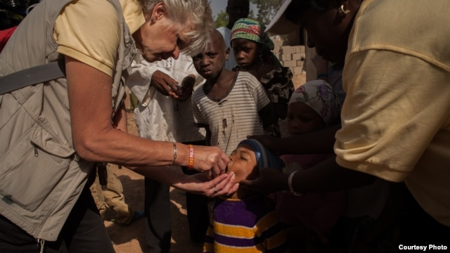 FILE - Rotary polio vaccination day in Kaduna, Nigeria. (Rotary International)