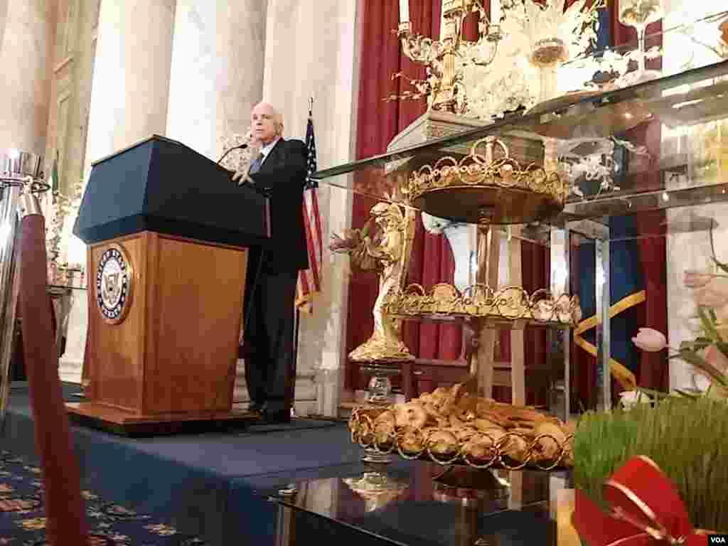 مراسم جشن نوروز به میزبانی «جوامع ایرانیان آمریکا» در کنگره آمریکا برگزار شد. از جمله سخنرانان مراسم جشن نوروز در کنگره آمریکا، جان مک کین، سناتور ارشد جمهوریخواه بود.