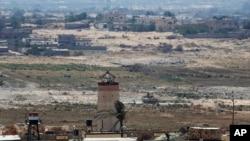 가자 지구 남쪽에서 본 이집트의 시나이반도.