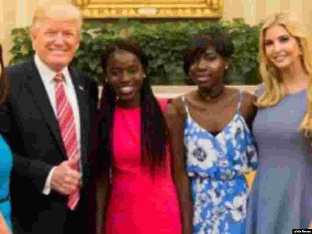 Ganawar Shugaba Trump da 'yammatan Chibok