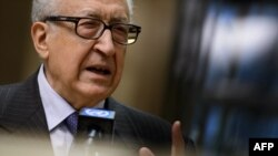 FILE - UN-Arab League envoy for Syria Lakhdar Brahimi, January 11, 2013.