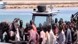 數千北非難民乘船抵意大利海岸