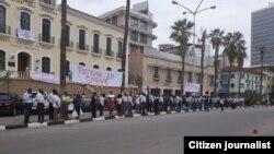 Greve geral de funcionários da Justiça, Luanda.
