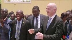 Gianni Infantino en visite au Soudan du Sud