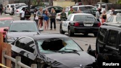 2014年5月24日加利福尼亚州圣塔巴巴拉: 发生枪击案现场