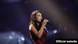 Azərbaycanlı müğənni Dilarə Kazımova Eurovision-2014 mahnı müsabiqəsinin yarımfinalında (Foto Eurovision.tv saytından götürülüb)
