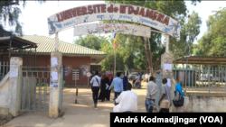 Vue de l'entrée principale de l'université de N'Djamena, 22 septembre 2019. (VOA/André Kodmadjingar).