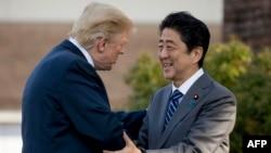 ABŞ prezidenti Donald Tramp və Yaponiyanın baş naziri Şinzo Abe