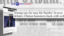 "Manchetes Americanas 27 Setembro: Trump promete ser mais ""agressivo"" no próximo debate"