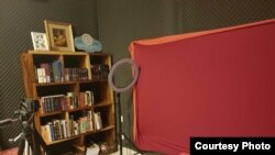 This is Catherine V. Harry's studio which she uses to make videos about sexual and reproductive health. (Courtesy photo)