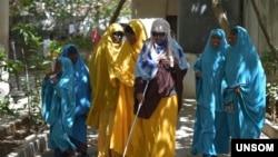 دولت سومالیا عکس این زن نابینا را منتشر کرده و او را عامل حمله انتحاری ماه گذشته دانسته است