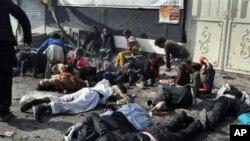 아프가니스탄 자살폭탄공격 현장