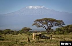 FILE - Mount Kilimanjaro in Tanzania.