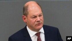 德国财政部长肖尔茨 - 资料照片