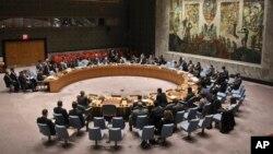 Réunion du conseil de sécurité de l'ONU, New York, 23 octobre 2018.
