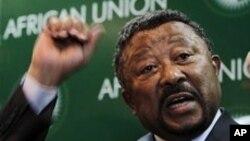 Le président de la Commission de l'Union africaine, Jean Ping, à Addis Ababa, le 29 janvier 2011.