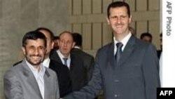 İran prezidenti Mahmud Əhmədinejad rəsmi səfərlə Suriyadadır