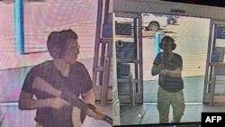 閉路電視畫面顯示嫌疑人進入沃爾瑪超市(2019年8月3日)