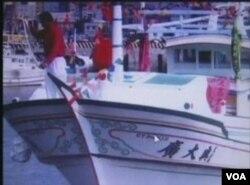"""台湾渔船""""广大兴28号""""(VOA视频截图)"""