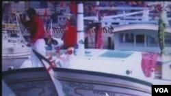 """台湾渔船""""广大兴28号""""(来源:VOA视频截图)"""