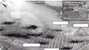 Airstrike on Abu Kamal ISIL residence by coalition forces, Raqqah, Syria, Sept. 23, 2014. (U.S. Central Command Center)