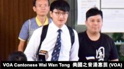 香港大學學生會前會長馮敬恩(左)與前外務副會長李峰琦 (攝影:美國之音湯惠芸)