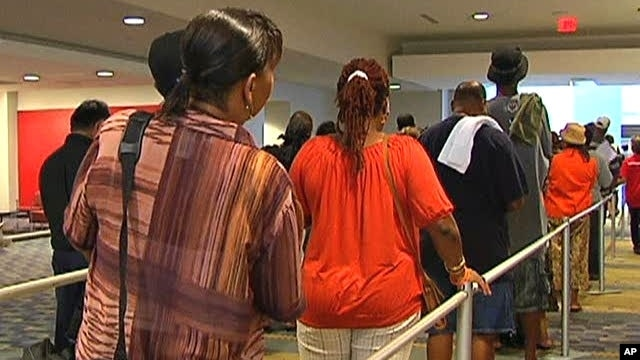 Washington DC residents line up to get access to a rare free health clinic which offers a wide range of treatment options