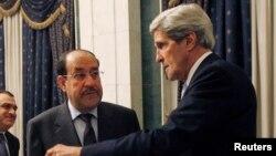 Ngoại trưởng Hoa Kỳ John Kerry gặp Thủ tướng Iraq Nouri al-Maliki tại Baghdad, ngày 24/3/2013.