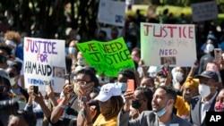 Protesti zbog ubistva Ahmada Arberija (Foto:AP/John Bazemore)