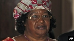 President of Malawi Joyce Banda is seen during a visit to Britain on June 6, 2012.