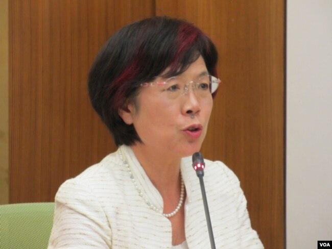 台灣執政黨民進黨立委尤美女。 (美國之音張永泰拍攝)