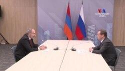 Վարչապետ Նիկոլ Փաշինյանն առանձնազրույց է ունեցել ՌԴ վարչապետ Դմիտրի Մեդվեդևի հետ