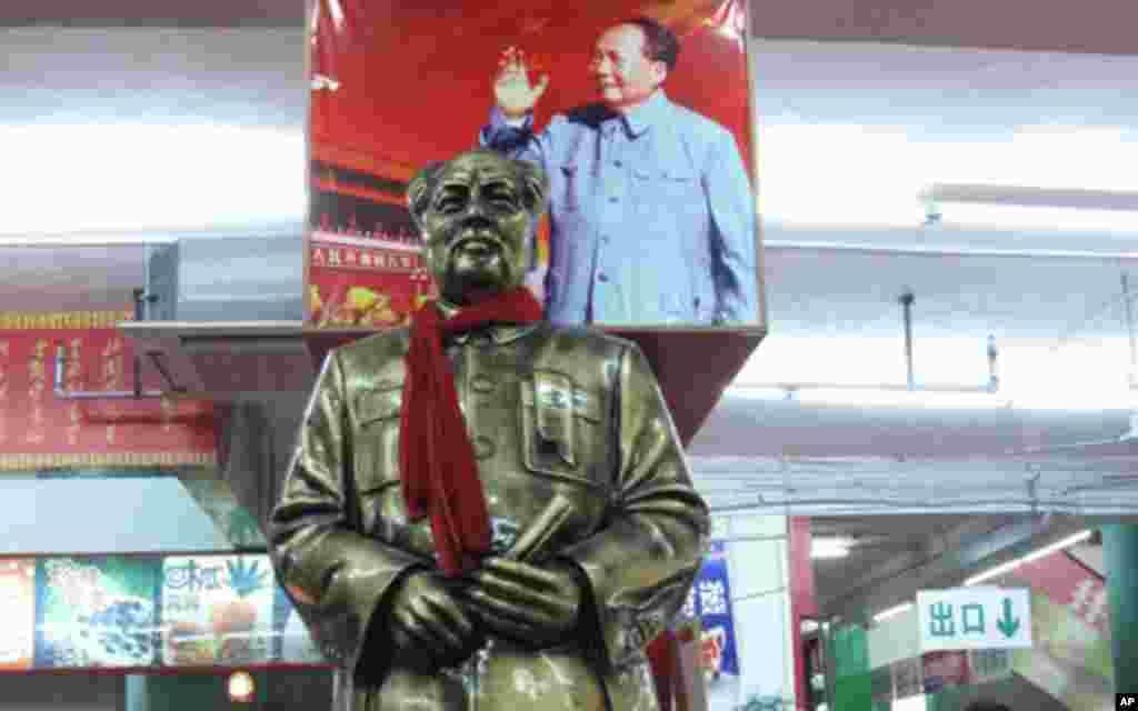 毛泽东的形像随处可见
