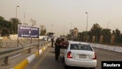 Entrada da Zona Verde em Bagdad
