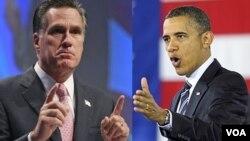 Hasil survei menunjukkan Presiden Obama (kanan) memimpin 51 persen berbanding 45 persen di antara pemilih terdaftar (foto: dok).