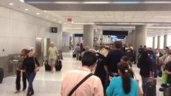 Decenas de personas esperan debido a falla en Américan Airlines