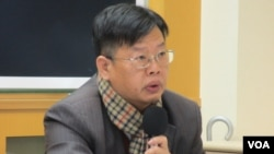 台湾人权律师魏千峰(美国之音张永泰拍摄)