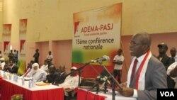Lors de la conférence nationale ADEMA, à Bamako, au Mali.