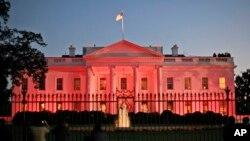 Desde que la familia Obama llegó a la residencia presidencial, la Casa Blanca se pinta de rosado cada 24 de octubre.