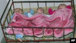 북한 자강도 고아원의 신생아들 (자료사진)