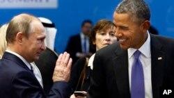Володимир Путін і Барак Обама на саміті в Туреччині