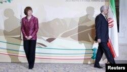 Eron bosh muzokarachisi Said Jaliliy va Yevropa Ittifoqi Tashqi ishlar vazirasi Ketrin Eshton, Almati,5-aprel, 2013