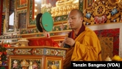 Karmapa giving teachings on Chöd