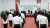 Pelantikan pegawai KPK menjadi aparatur sipil negara (ASN) di Jakarta, Selasa, 1 Juni 2021. (Foto: Sasmito Madrim/VOA)